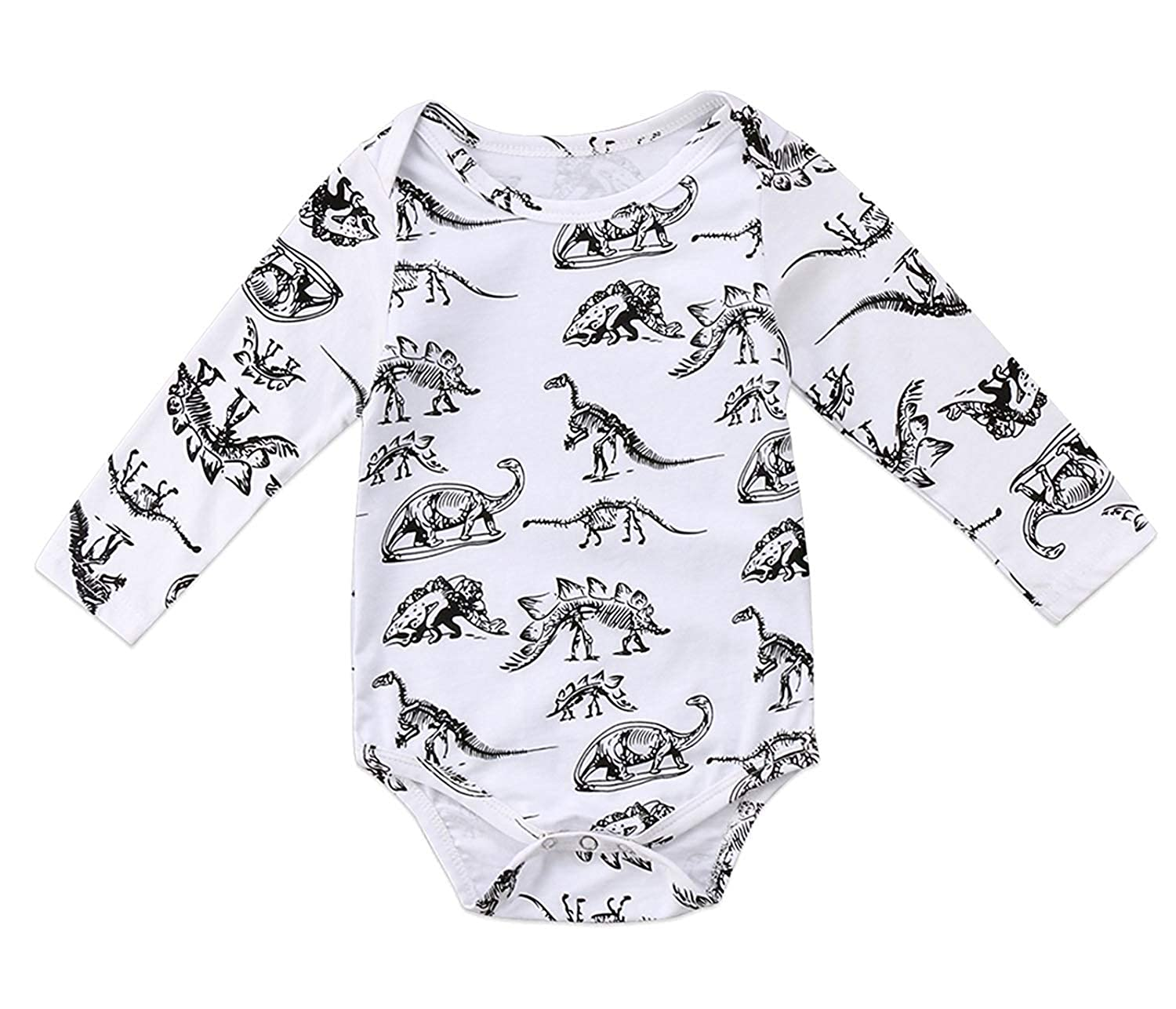 Funny Dinosaur Newborn Outfit Baby Boy Girl Bodysuit Long Sleeve Romper Cute Jumpsuit Clothes Set