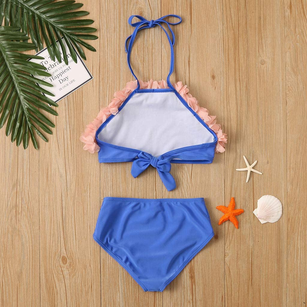 Kiminana Mother /& Men Bikini Set Summer Fashion Sweet Pure Color Flower Two-Piece Swimwear Holiday Family Beach Swimsuit