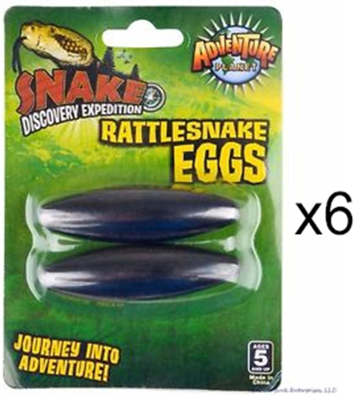 6 Packs ROCKYMART Large 2.5 Rattle Snake Eggs Rattlesnake Singing Magnets