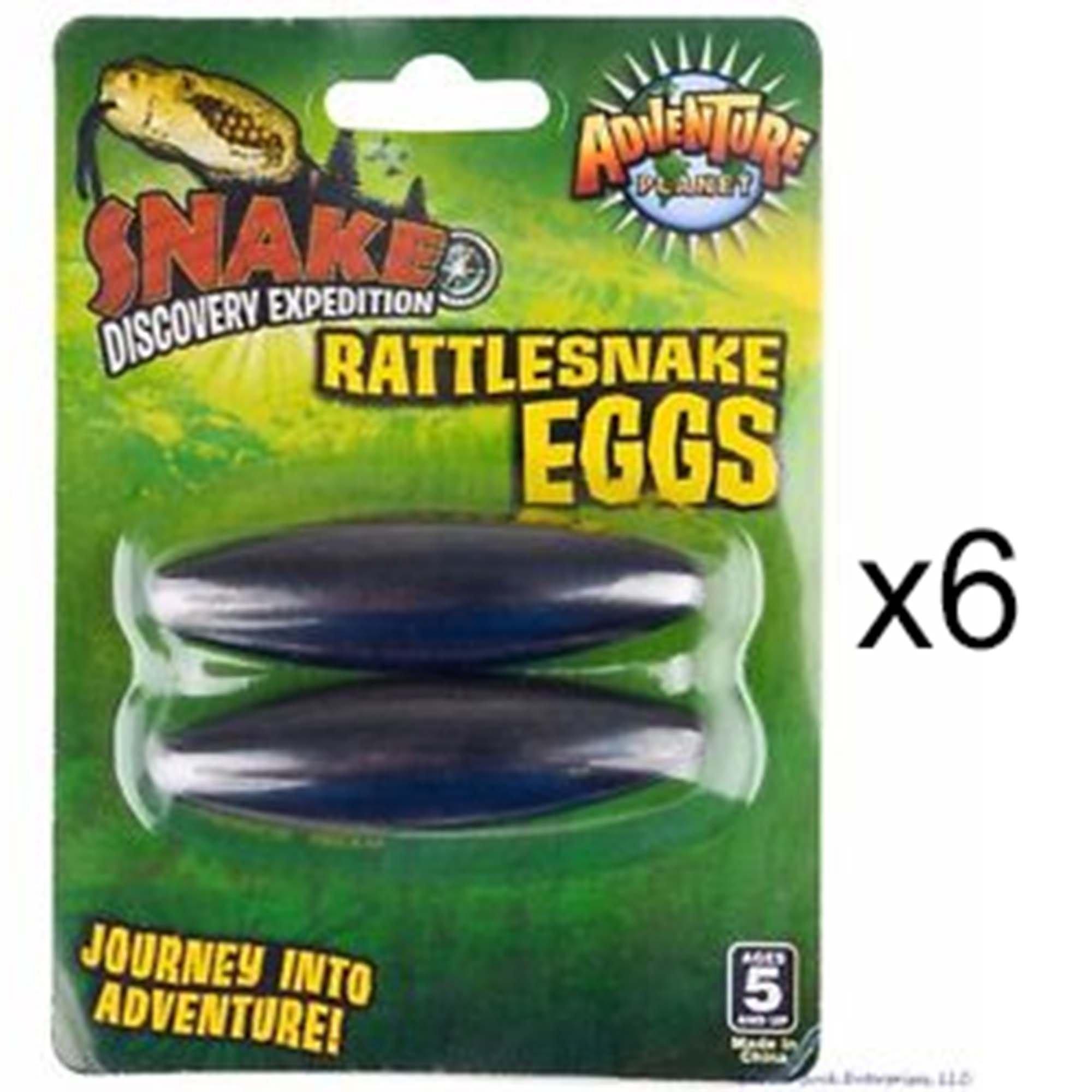 ROCKYMART (6 packs) - Large 2.5'' Rattle Snake Eggs Rattlesnake Singing Magnets