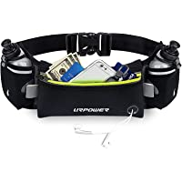 URPOWER Upgraded Running Belt with Water Bottle, Running Fanny Pack with Adjustable Straps, Large Pocket Waist Bag Phone…