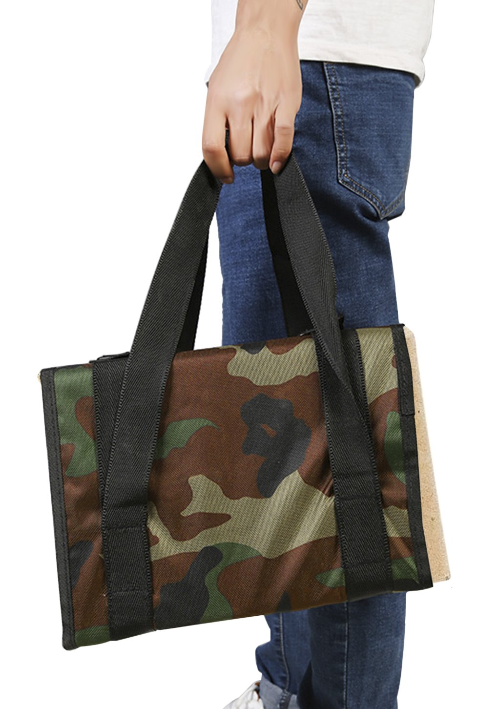 Camouflage Art Tool Sketch Bag Palette Organizer Drawing Board Holder Artist Carry Tote Storage Caddy Travel Case Box Pigment Satchel with Adjustable Strap Different Size for Sketching Painting Ylucky