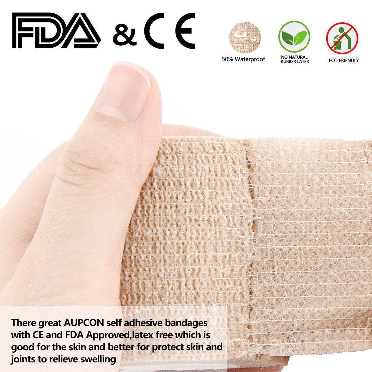 Professioneller Tierarzt 4 Inch AUPCON Haftbandagen Selbstklebende Bandagen f/ür Tiere Elastischer Faservlies