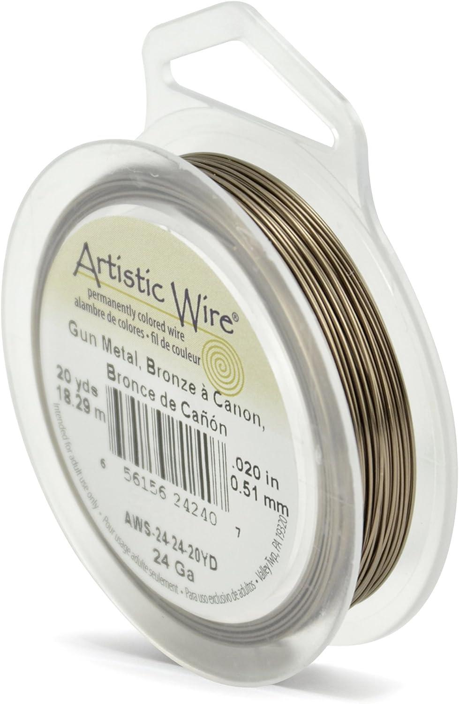 20-Yards Artistic Wire 24-Gauge Antique Brass