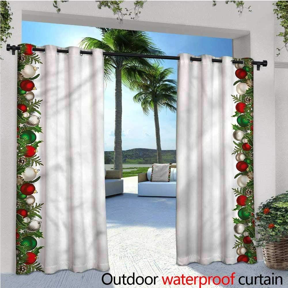 Cortina de privacidad para Exteriores de Navidad para pérgola Decorada con Lunares de Pino con Aislamiento térmico, Repelente al Agua, para balcón: Amazon.es: Jardín