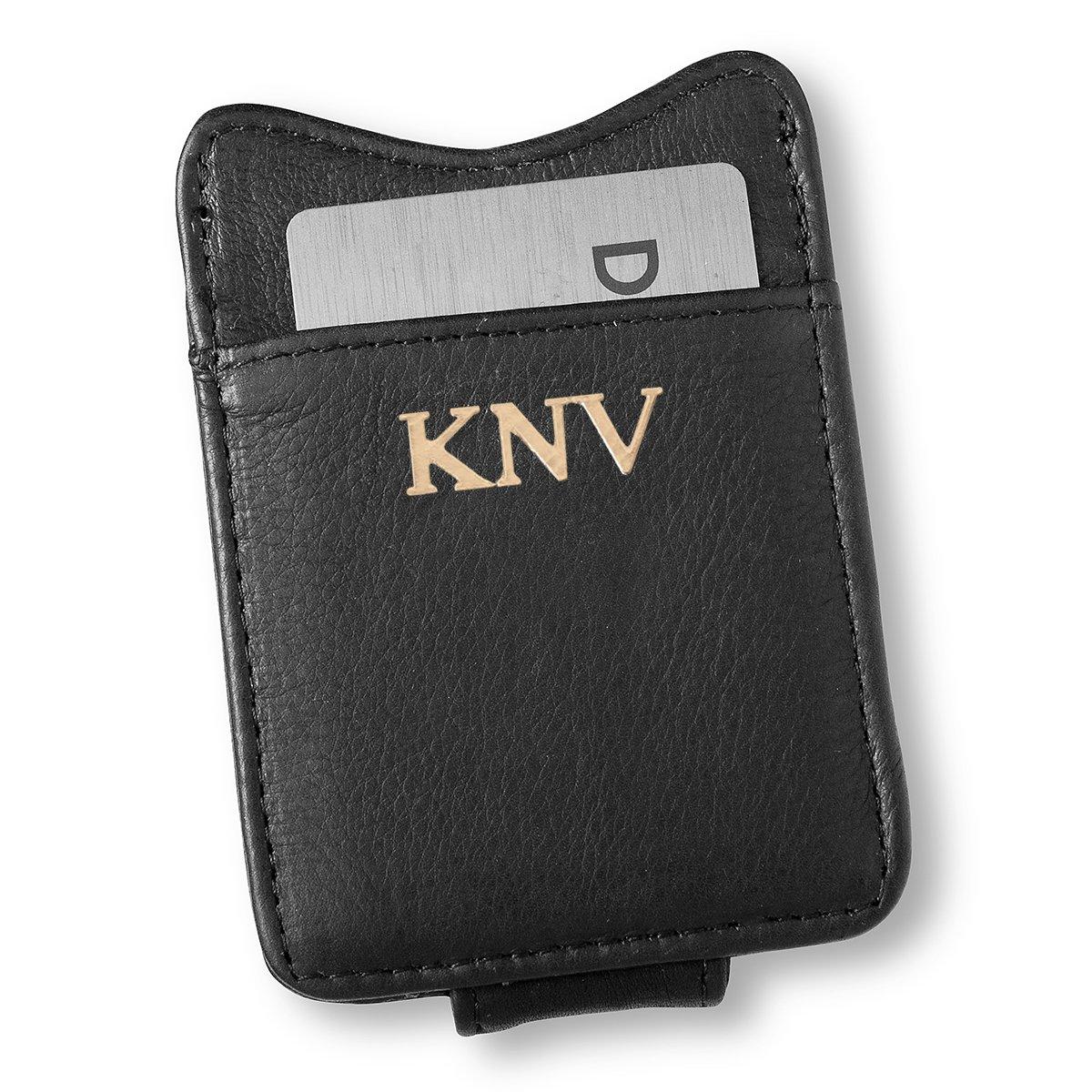 dfb2423f4513 Personalized Black Borello Leather Money Clip - Gold at Amazon Men's ...