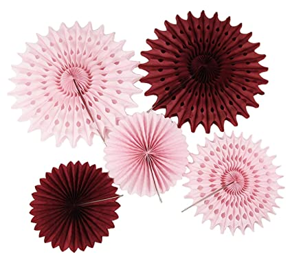 amazon com burgundy pink bridal shower decorations pinwheels paper