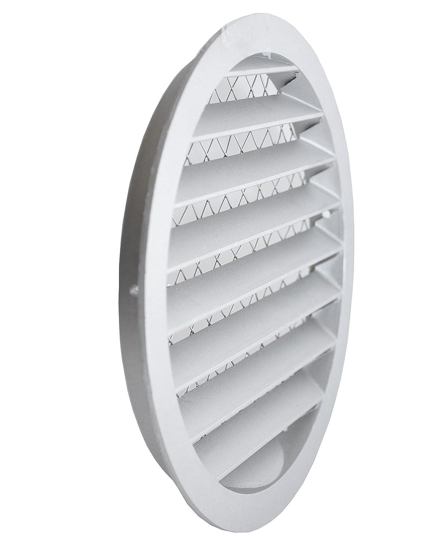 Grille da/ération ronde en aluminium avec filet anti-insectes Grille en aluminium.