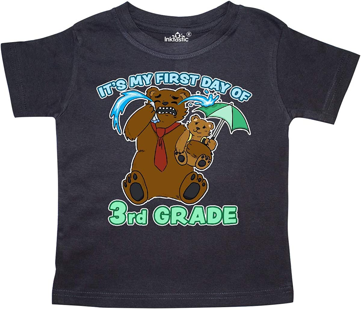 inktastic Its My 1st Day of 3rd Grade with Cute Bear Family Toddler T-Shirt