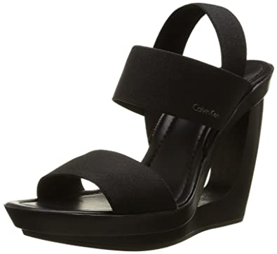 avant-garde de l'époque livraison gratuite modélisation durable Calvin Klein Women's Yelena Sandals, Black (Bbk), 4 UK ...