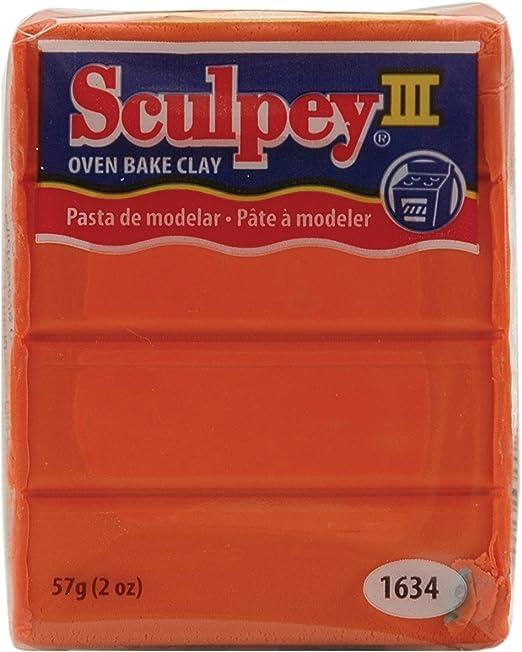 Sculpey S302 1634 Oven Bake Clay III-Just Orange