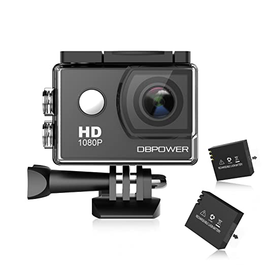 1370 opinioni per DBPOWER® Action Camera impermeabile 1080P HD 12MP KIT 2 Batterie ed