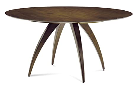 Saloom Furniture Ella SCWO 4848 48u0026quot; Round Maple Dining Table   Smooth  Top With Aurora