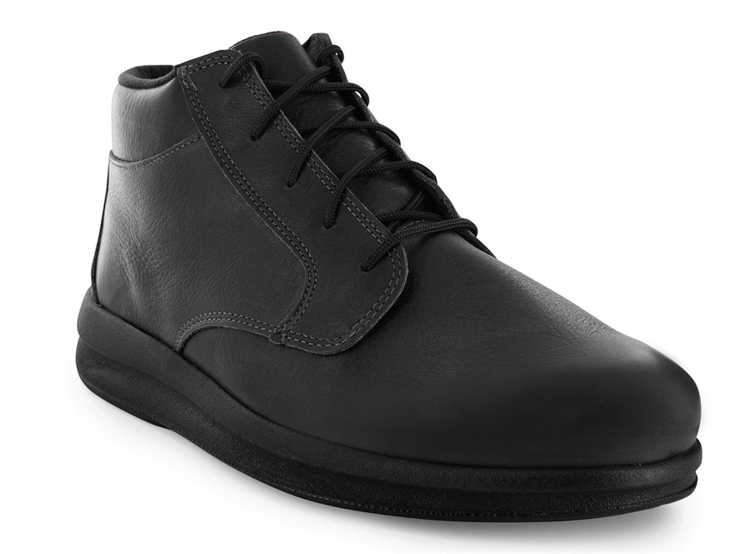 P W Minor Denton DX2 Men's Therapeutic Diabetic Extra Depth Shoe: Black 12.5 Wide (E) Lace by P.W. Minor