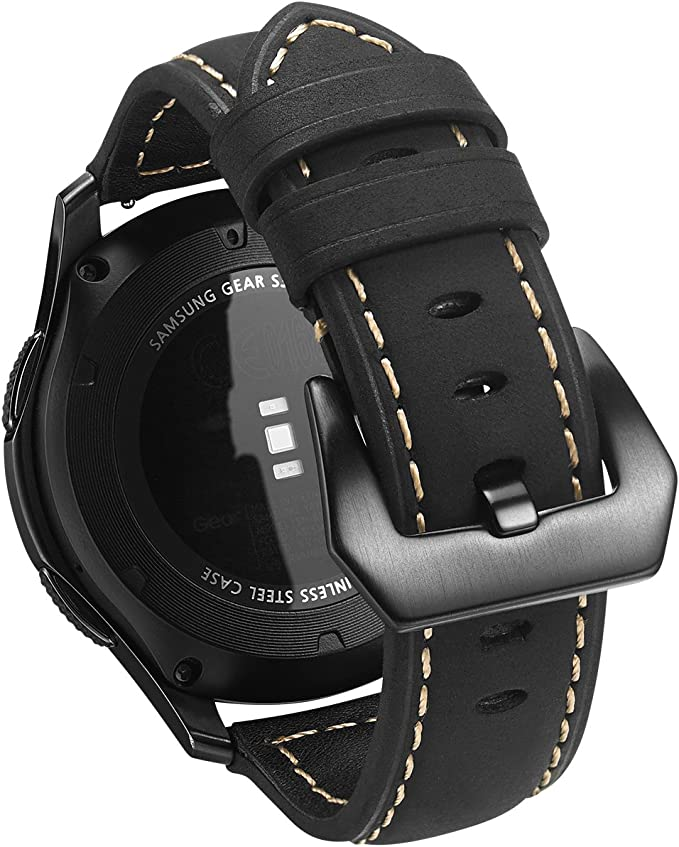 Gear S3 Reloj Correas, kuxiu Piel auténtica Replacement Pulsera ...