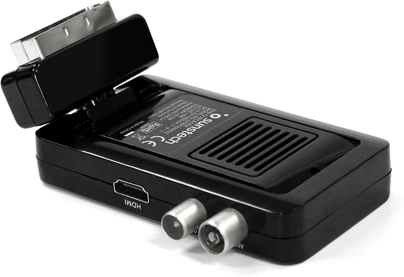 Sunstech DTBP700HD2BK, Mini Sintonizador, Negro