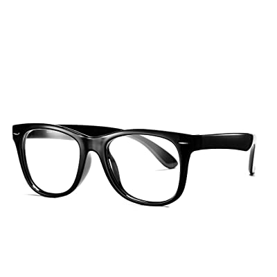COASION Kids Clear Glasses for Little Girls Boys, Geek Fake Nerd Eyeglasses for Costume (Age 3-12) (Black): Clothing