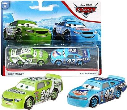 Disney Selección Doble Pack Cars | Modelos Vehículos 2020 | Cast 1:55 | Mattel, Cars Doppelpacks:Brick Yardley & Cal Weathers: Amazon.es: Juguetes y juegos
