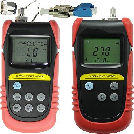 Tellid -50dB a + 26DBB, Óptico Medidor de potencia medidor de potencia, fibra medidor de potencia ...