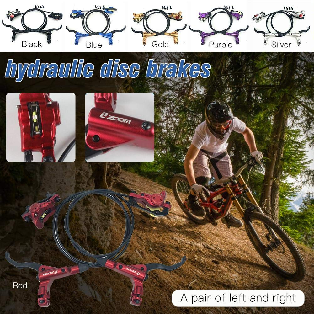 sofulaile Hydraulic Disc Brake Set for Mountain Bikes Aluminum Alloy Multi-Color Optional Suitable for Bicycles