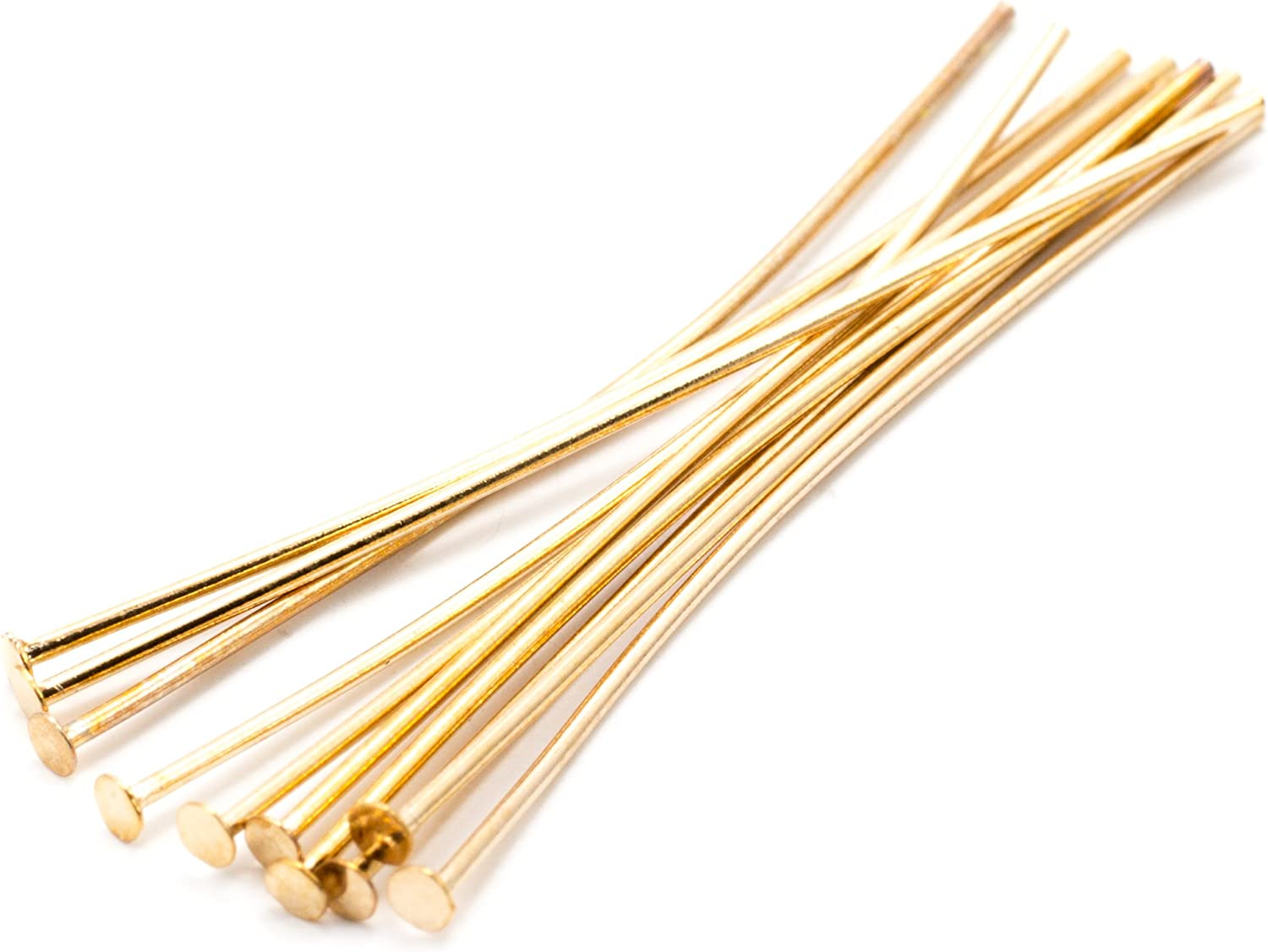200pcs 0.59inch 200pcs//bag 15 20 25 30 40 50 60 70 mm Flat Head Pins 8 Colors Headpins for Jewelry Findings Making DIY Supplies Gold, 15mm