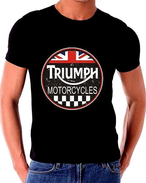 9e543bb2cb10ba Amazon.com  Gatsbe Exchange Triumph T Shirt Motorcycle Classic Old Vintage  Tin Sign Art Short Sleeve  Clothing