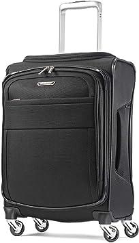 Samsonite Eco-Glide Softside Luggage with Spinner Wheels Midnight Black