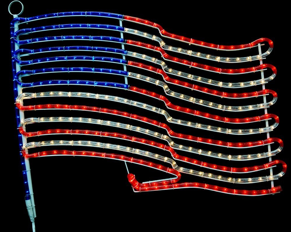 Amazon american flag rope light motif lighted flag red amazon american flag rope light motif lighted flag red white and blue flag garden outdoor arubaitofo Image collections
