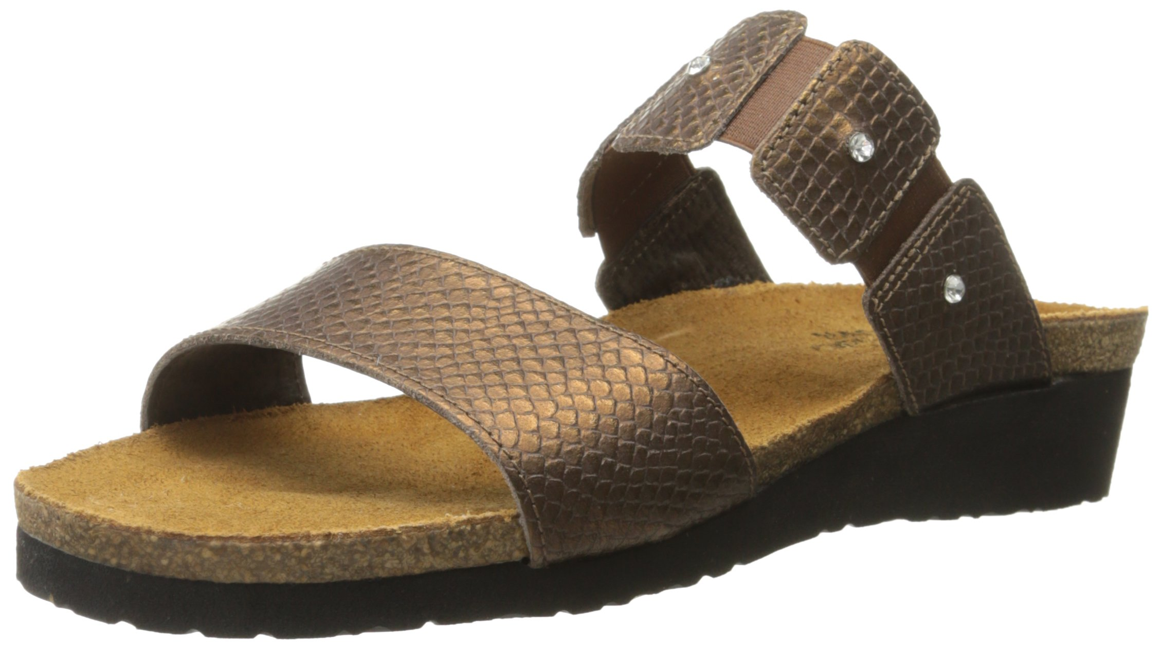 Naot Women's Ashley Wedge Sandal, Brown Lizard, 42 EU/10.5-11 M US