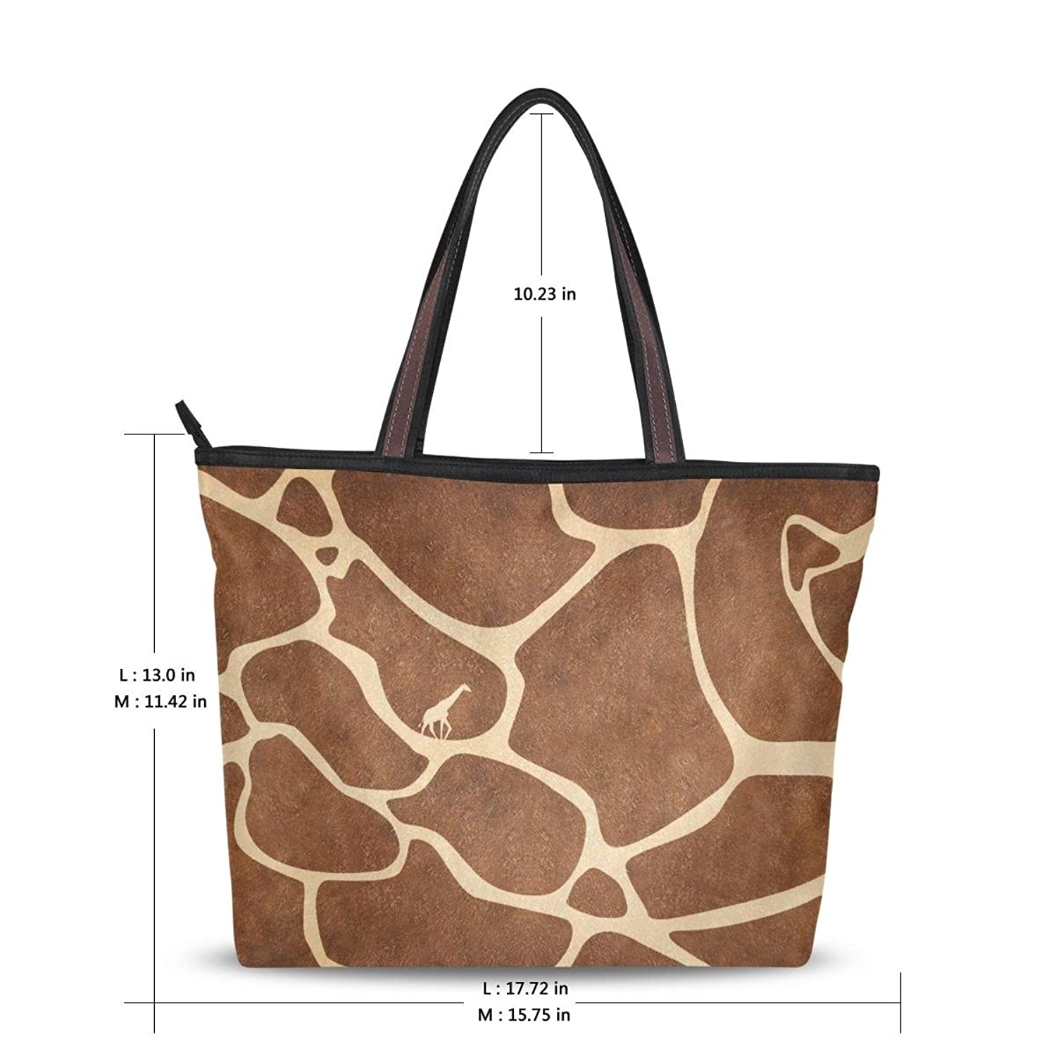 Women's New Fashion Handbag Shoulder Bags 2016,Pretty Giraffe Print,Tote Bag
