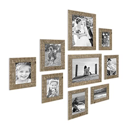 Amazon Photolini Set Of 9 Picture Frames Beach House Style