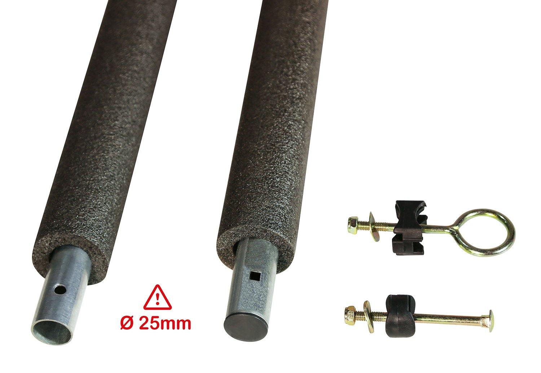 Juego de postes de red de 25 mm de diámetro para cama elástica Kangui