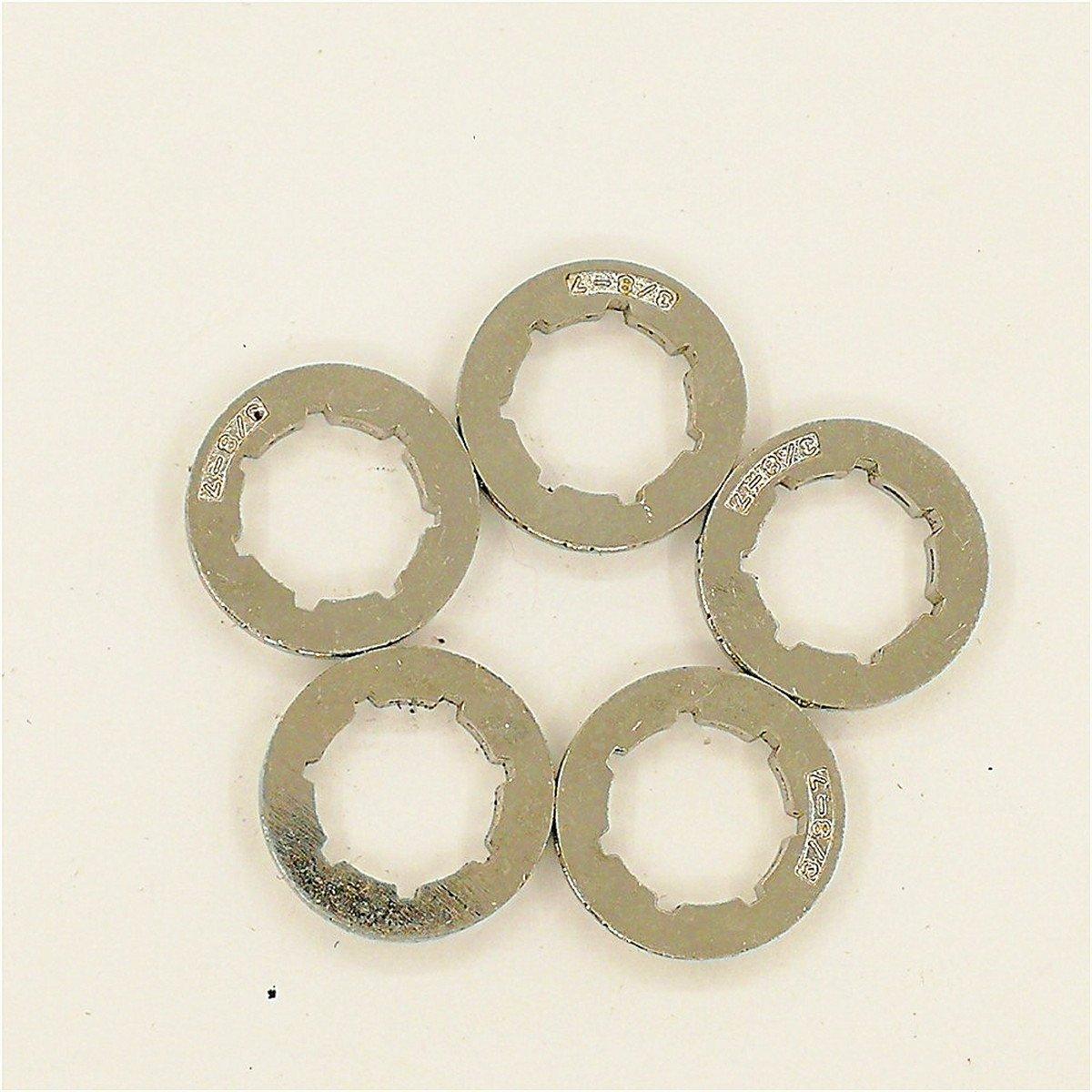 5/pezzi 7T pignone profilo per Husqvarna 340/345/346/x P 350/353/357/359/50/51/55/40/45/motosega Small 7/spline