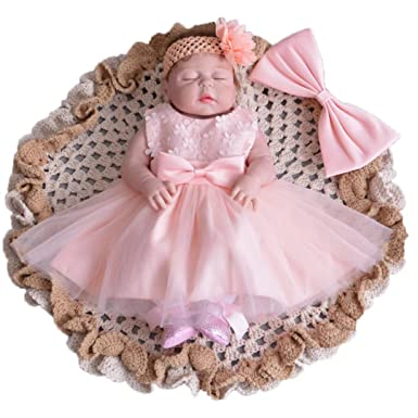 90654a19039c Amazon.com  ADHS Infant Kids Baby Girl Flower Formal Event Floral ...