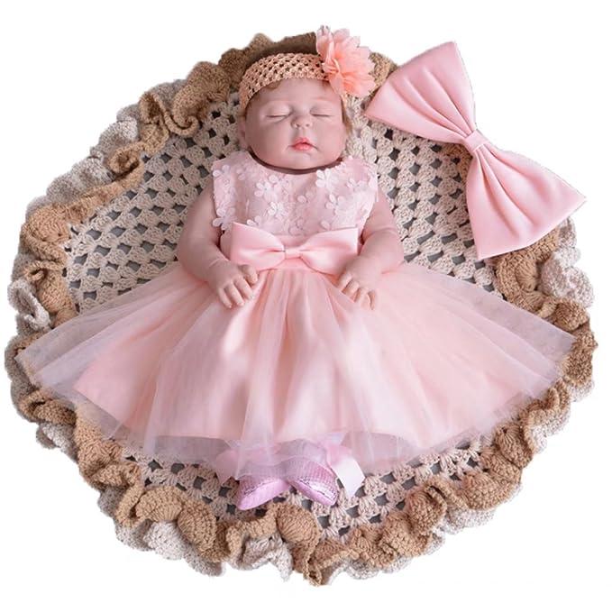 Amazon.com: ADHS bebé niños bebé niña flor evento formal ...