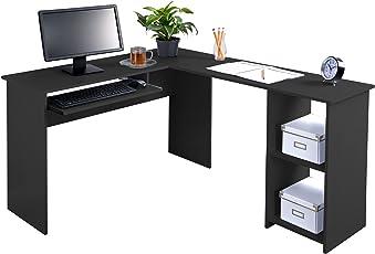home office furniture corner desk. Fineboard L-Shaped Office Corner Desk 2 Side Shelves Home Furniture
