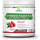 D-Mannose Powder Plus | 67 Servings | 6.5 Ounces | Fast-Acting Urinary Tract Infection Relief | Enhanced with Pure Cranberry Juice Extract | Plus 5 Billion CFU Probiotics | Vegetarian / Vegan