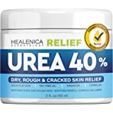 Urea Cream 40% - Dry Feet, Elbows & Hands Softener - Made in the USA - Natural Callus Remover & Humectant Moisturizer - Urea 40 Heals & Softens Thick & Rough Skin - Cracked Heel Relief