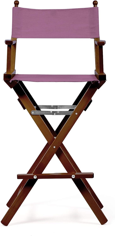 Alta qualit/à Pieghevole e Leggera Collezione Mediterraneo Legno Tinto Naturale Violet Sedia Regista Make Up Mobili da Esterno Telami 118cm x 55cm x 45cm Made in Italy