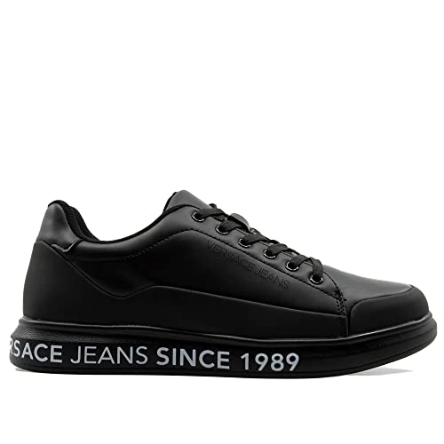Versace Jeans 1989 Sneakers Black Maxi para: Amazon.it ...
