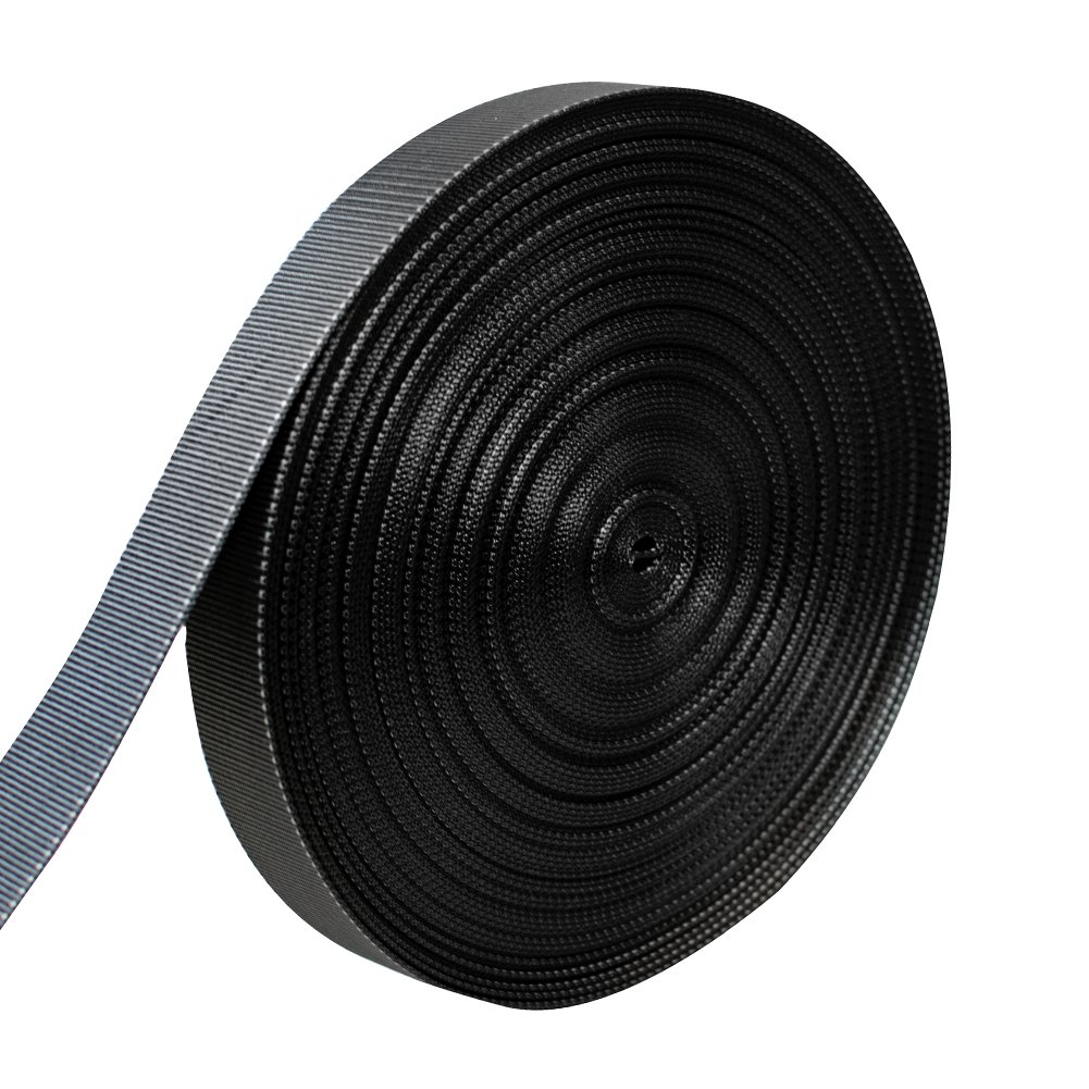 AMP 5000lbs Rated Heavy Duty Mil Spec Military Grade Nylon Fastening Webbing Strap 2'' Wide 50 Yards Black/White