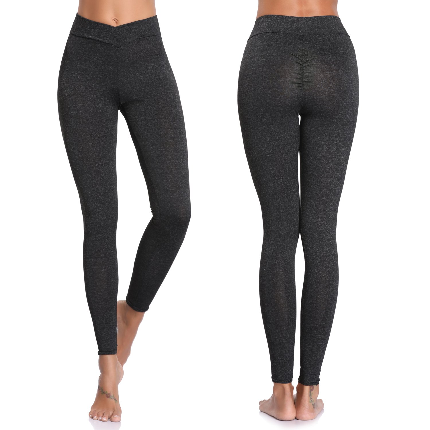 58174c461c3063 Amazon.com: Joyshaper Workout Leggings for Women Scrunch Butt Ruched High  Waist Capri Pants Running Gym: Clothing