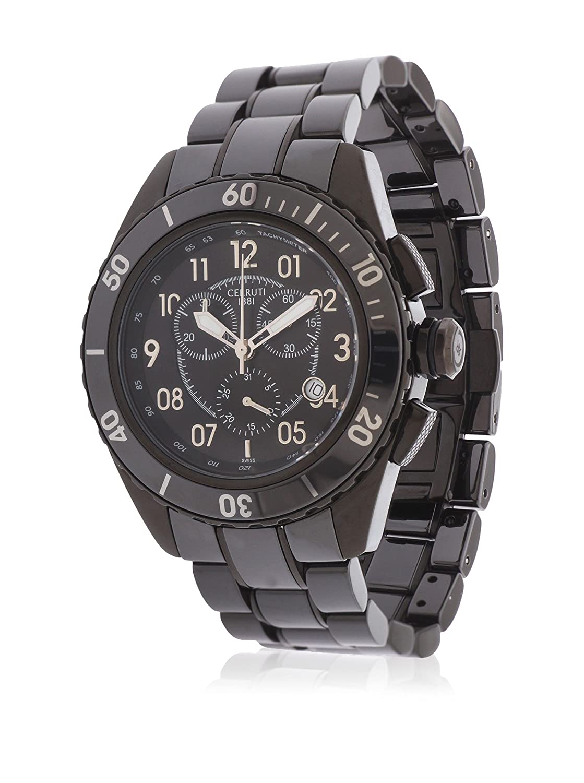 Cerruti Herren Armbanduhr Keramik Schwarz CRA079Z291H