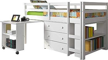 4.DONCO Kids Low Study760-W Loft Bed color White