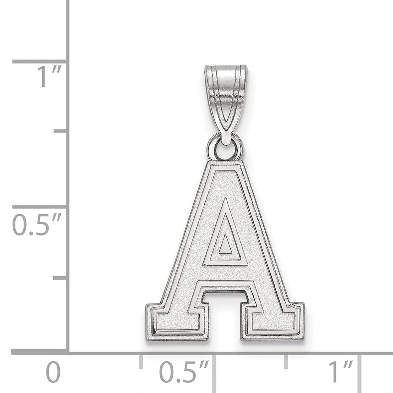 925 Sterling Silver Rhodium-plated Laser-cut U.S Military Academy Medium Pendant
