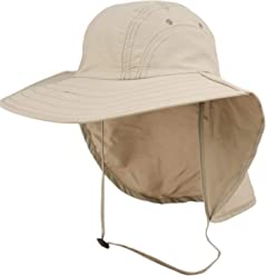 fb8eba180e84a Unisex Outdoor Sun Bucket Boonie hat with Durable Mesh Lining and Hidden  Stowable Neck Flap -