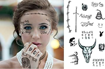 Ginkago Mensaje Malone Inspirado tatuajes temporales, tatuaje ...