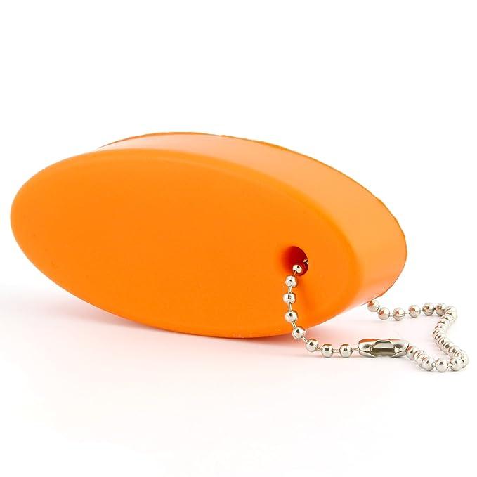 Amazon.com: Llavero anaranjado de espuma flotante (2 ...