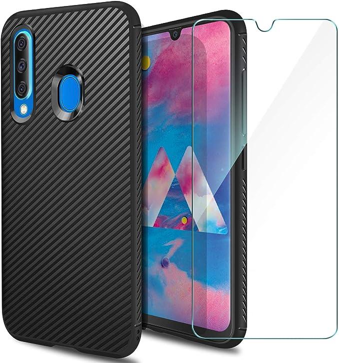 AROYI Carcasa Samsung Galaxy M30 Funda Silicona & Protector ...