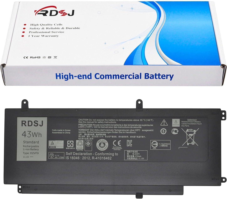 D2VF9 Laptop Battery Compatible Inspiron 15 7547 7548 Series 0PXR51 PXR51 0YGR2V 11.1V 43Wh